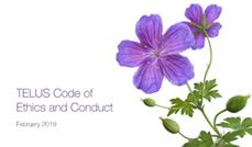 Code d'éthique et de conduite de TELUS
